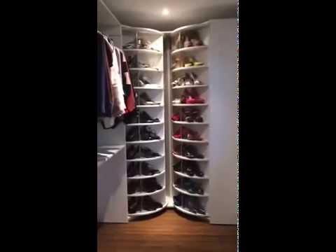Wandkast Voor Kleding.Roterende Schoenen Kleding Kast De Droom Van Elke Vrouw Youtube