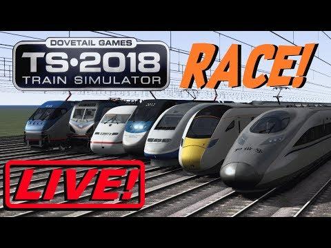 Train Simulator 2018 - Electric Locomotives (RACE!) [Live Stream]