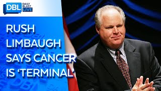 """Talk show host rush limbaugh told his listeners monday that he can no longer deny he's """"under a death sentence"""" in fight against stage 4 lung cancer.limb..."""