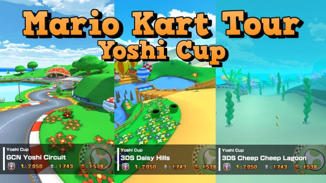 ios mario kart tour yoshi cup  youtube