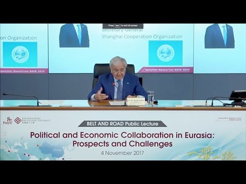 BELT AND ROAD Public Lecture by Secretary-General of Shanghai Cooperation Organisation