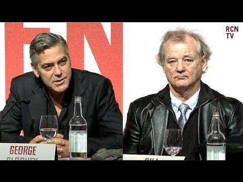 The Monuments Men Premiere Interviews - George Clooney, Matt Damon & Bill Murray