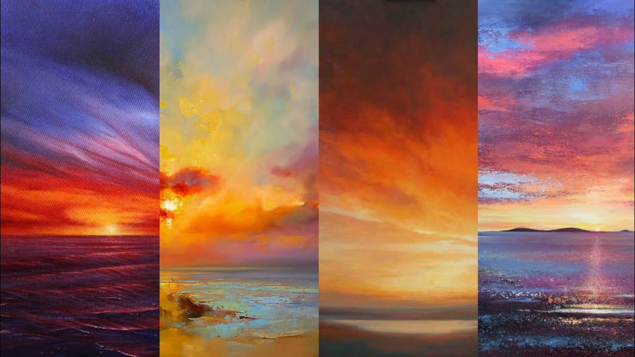Incredible 30 Outstanding Amazing Sunset Oil Paint Painting Ideas Ll Marvellous Painting Styles Youtube