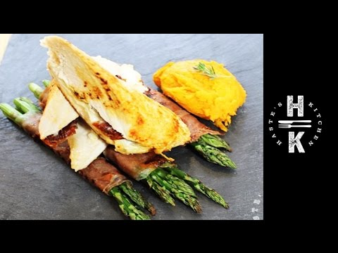 Clean Eating Stuffed Chicken Breast With Parma Asparagus And Sweet Potato