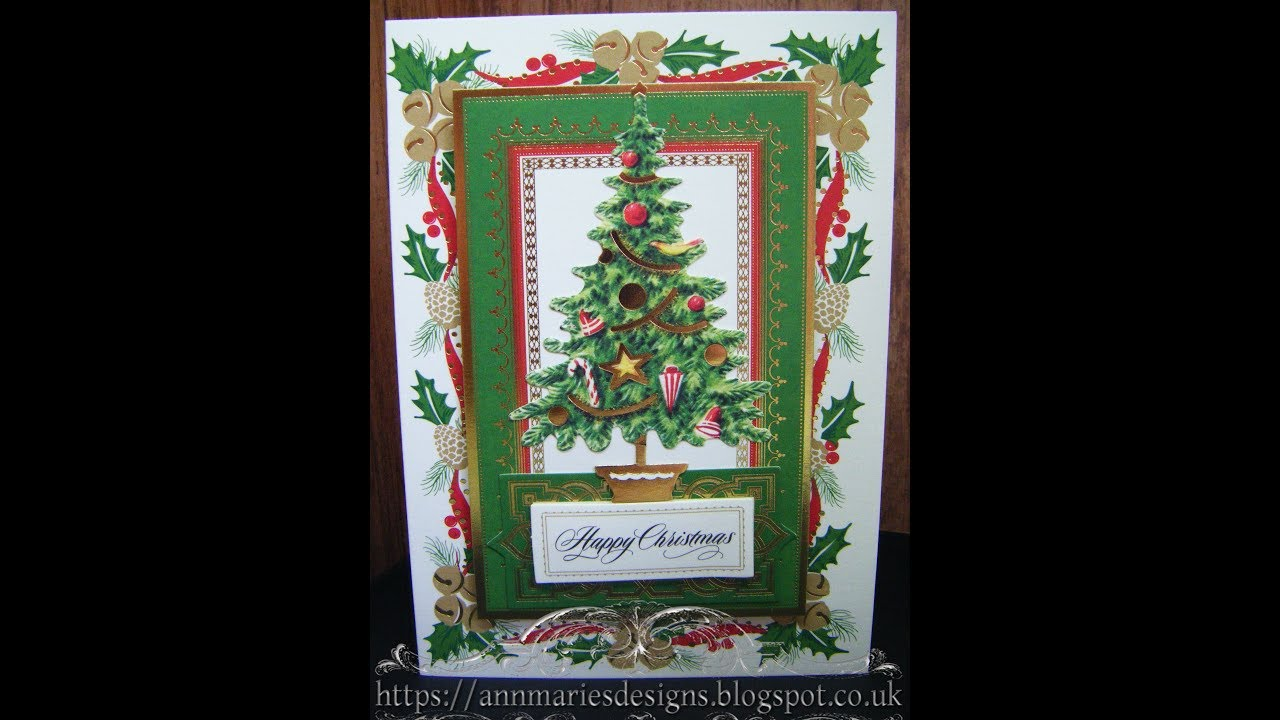 Anna Griffin Christmas Cards.342 Cardmaking Project Anna Griffin Glorious Christmas Tree Card
