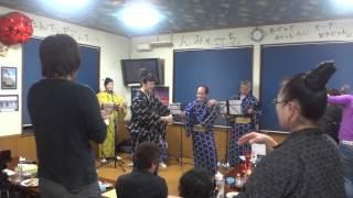 ユンタクの会 三線ライブ 2012.11.17 沖縄そば専門店 和にて.