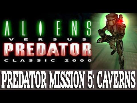 Aliens versus Predator Classic 2000 Walkthrough Predator 5 Caverns (Gameplay/No Commentary) |