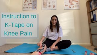 Instruction to K-Tape when suffering from knee pain.
