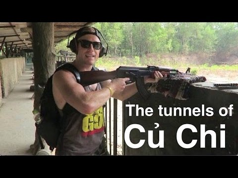 CU CHI!!  The Cu Chi Tunnels Tour by Speed Boat... Vlog!! – Saigon Vietnam Travel 2016