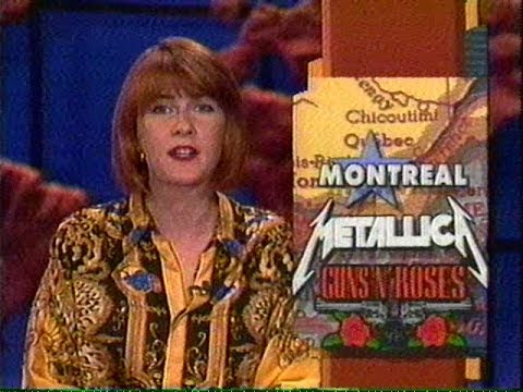 Metallica & Guns N' Roses – Montreal Riot TV News Report (1992)