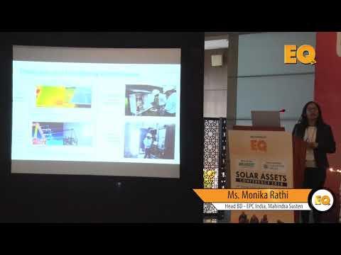 Monika Rathi, Head BD - EPC India, Mahindra Susten at EQ Solar Assets Conference, Delhi