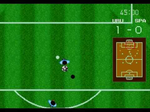 World Cup Italia 90 Gameplay Sega Genesis Mega Drive Uruguay v Spain