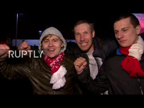 LIVE: Spartak fans celebrate winning the Championship