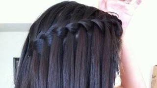 EASY Waterfall Braid Hair Tutorial : for STRAIGHT& CURLY HAIR thumbnail