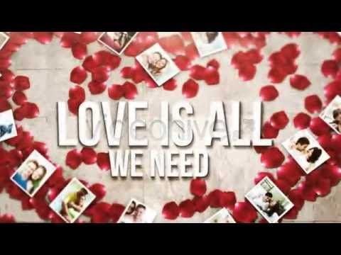romantic wedding slideshow after effects template youtube