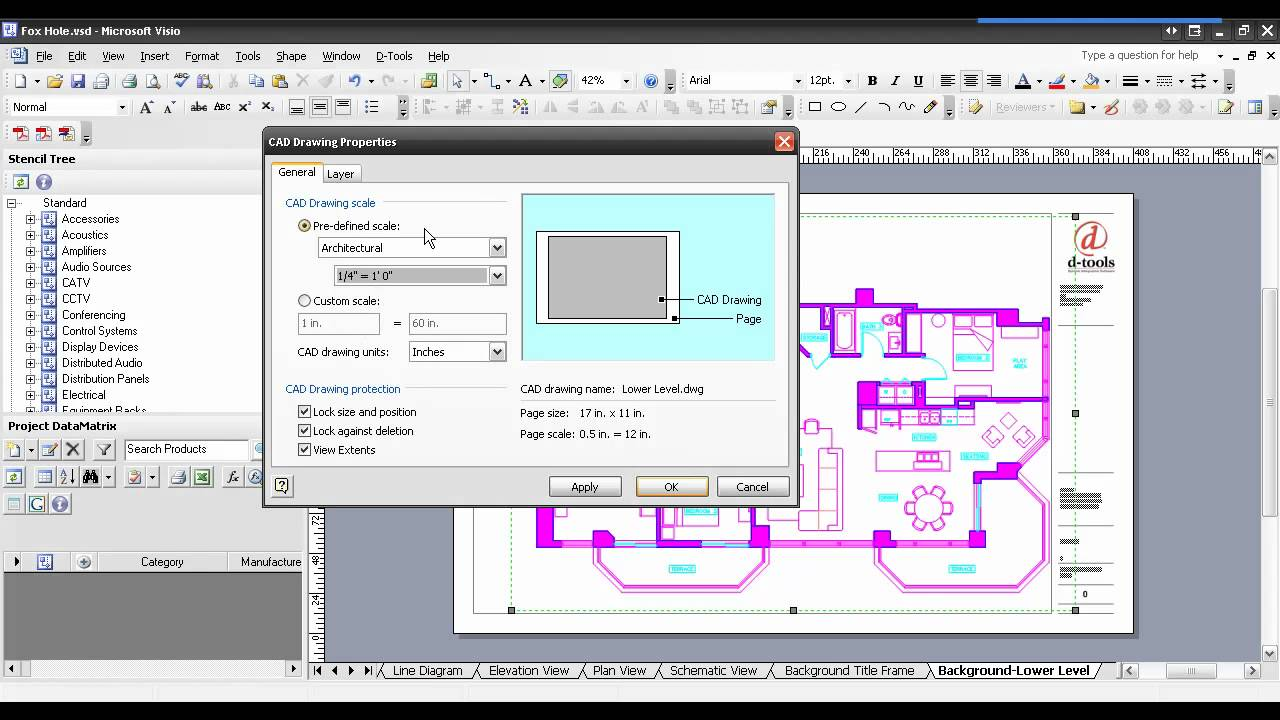 d tools si55 inserting an autocad file into visio youtube - Convert To Visio