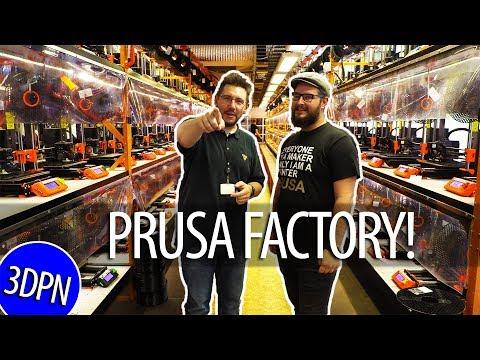 Prusa Factory Tour! Print Farm / Prusament / SL1 / MK3S / Prusa Lab!