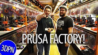 Prusa Factory Tour! Print Farm / Prusament / SL1 / MK3S / Prusa Lab!