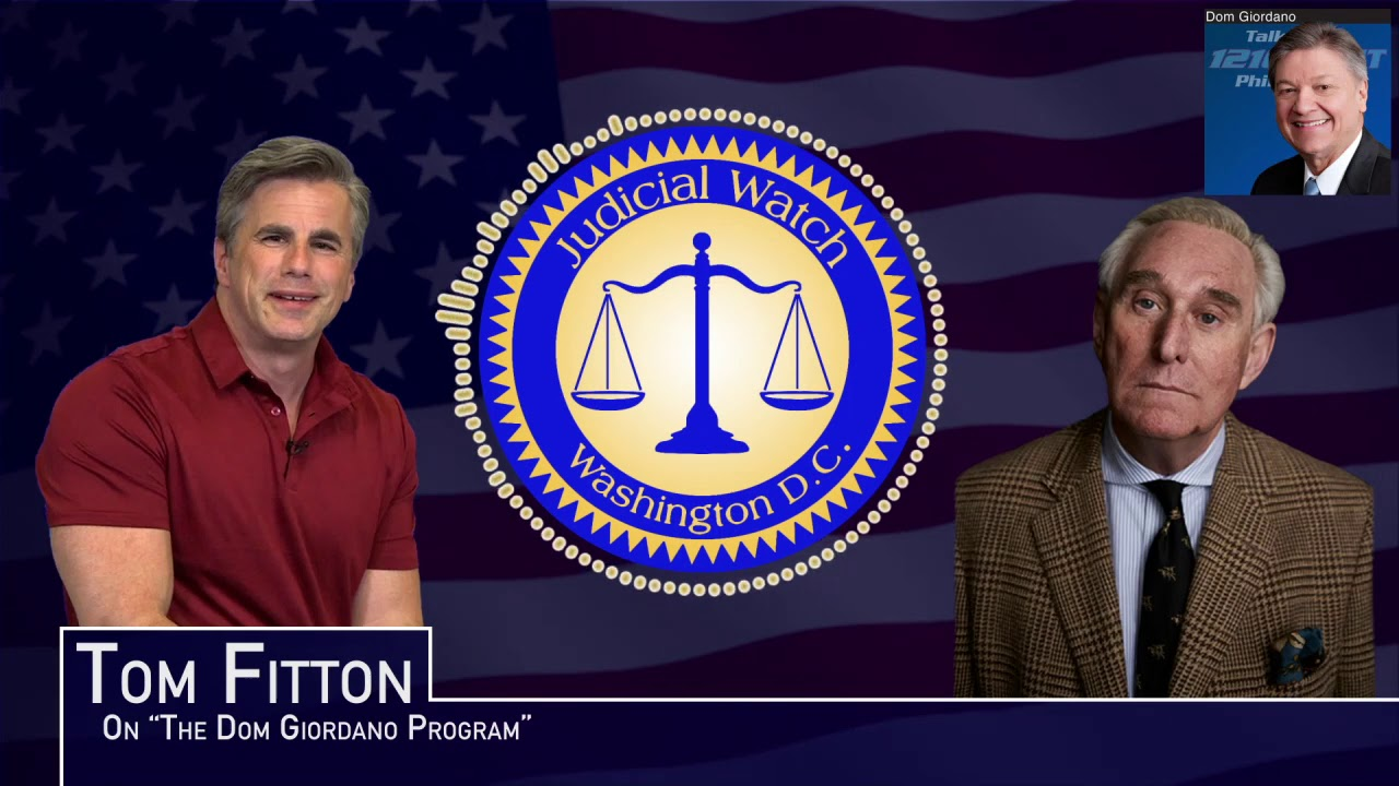 Tom Fitton: Roger Stone Case Shows AG Barr Needs to Retake Control of DOJ