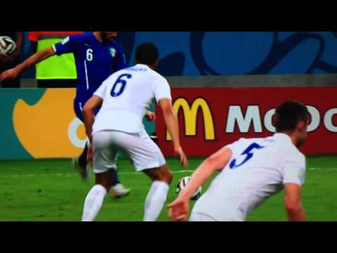 Mario Balotelli Goal England vs Italia 1-2 World Cup 2014