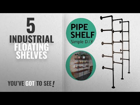 Top 10 Industrial Floating Shelves [2018 ]: Industrial French Country Style Decorative Pipe Wooden