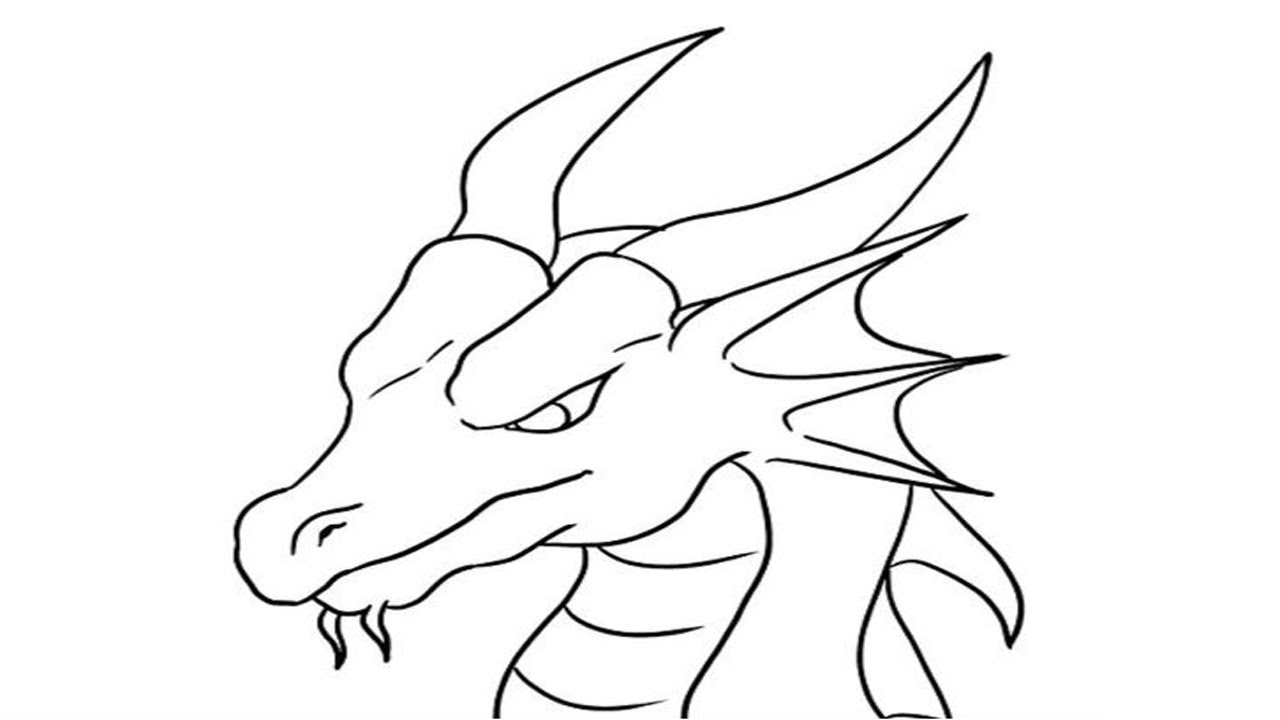 Coloring pages how to draw a dragonstep by step easy