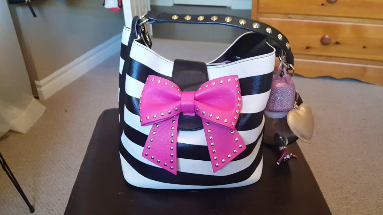 betsy johnson bucket purse