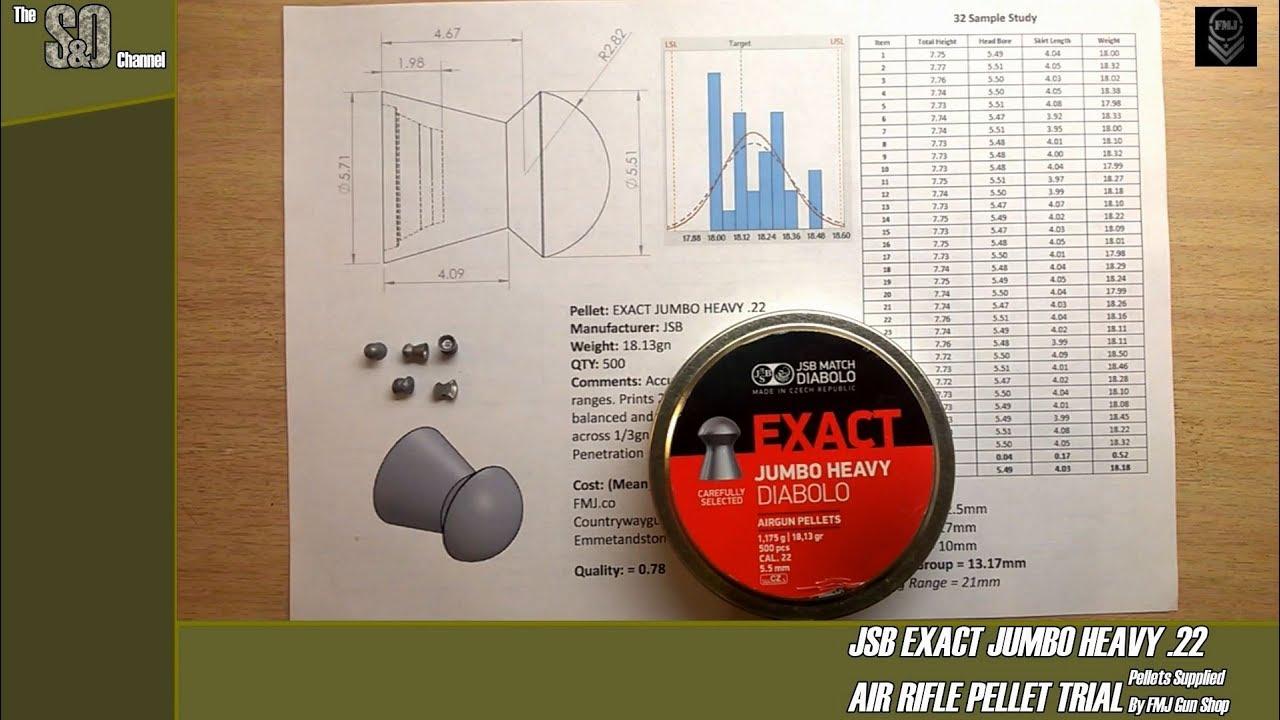 5.52mm 15.89gr JSB Diablo Exact .22 Pellets