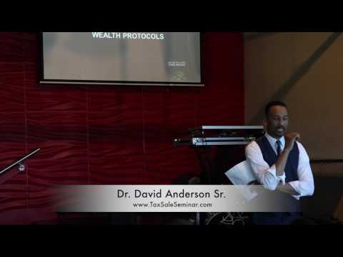 Dr. David M. Anderson Sr. SPEAKS  - Benefits to Real Estate Tax Lien Certificates - TAX SALE SEMINAR