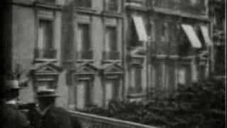 Moving sidewalk Paris Expo 1900 Edison