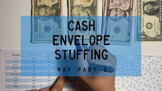 Cash Envelope Stuffing, May pt. 2 | PARKOO Giveaway Winners | BudgetWithBri