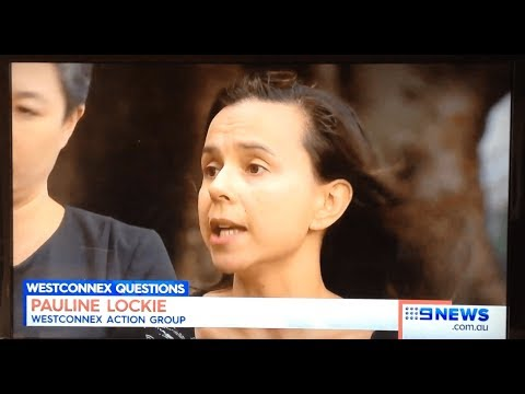 Pauline Lockie speaks to 9 News about the WestCONnex Federal audit