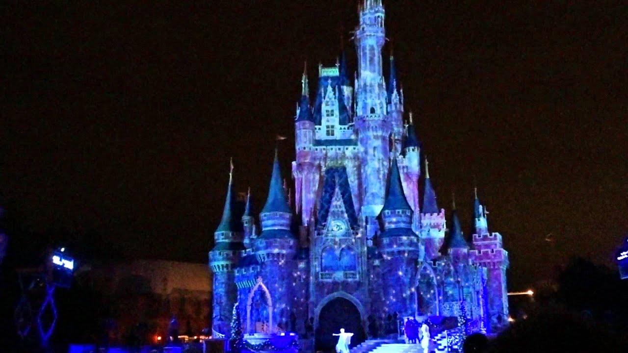 A Frozen Holiday Wish Walt Disney World Castle Lighting Show 12 3 2017