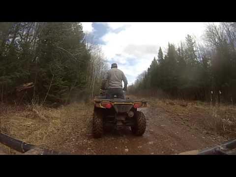 Hurley Wisconsin ATV Trip 4/2016 Part  3