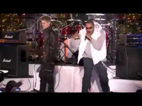 Justin Bieber & Busta Rhymes - Drummer Boy Live at Rockefeller Center