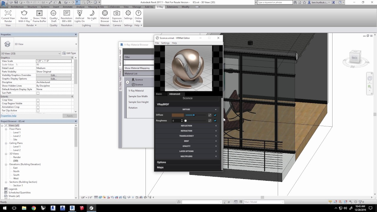 Using IES lights in Vray for Revit - Evermotion