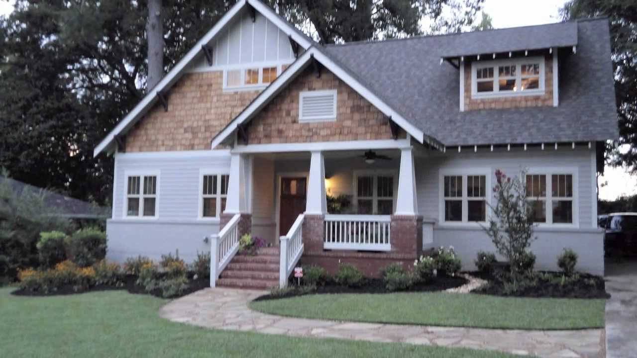 Decatur ranch converted to craftsman bungalow youtube for How to build a ranch house