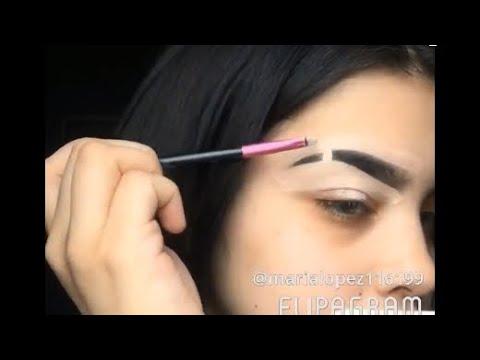 Slit eyebrow tutorial | Easy glam look✨✨