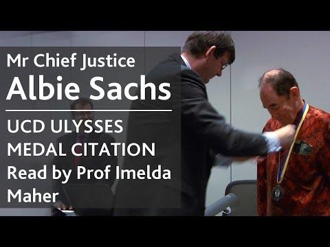 Albie Sachs | UCD Ulysses Medal | Prof Imelda Maher delivers official citation