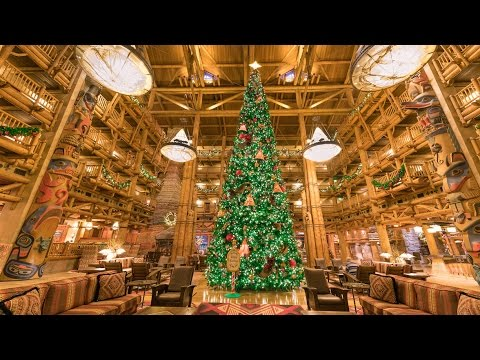 2014 Disney's Wilderness Lodge Christmas Tree Time-Lapse - YouTube
