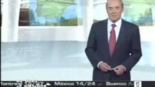 Maldonado, el hombre del tiempo, se despide de TVE
