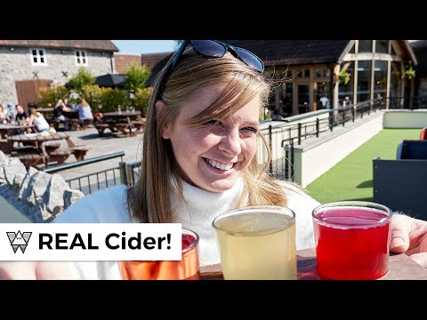 Americans try proper British Cider in Somerset England