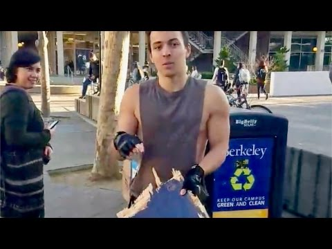 Arrogant Berkeley College Student Destroys Campus Republican's Private Property Sign, On Camera