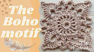 Crochet Boho Motif  Lace Motif - Φιλικό προς αρχάριους - Πλεκτό Μοτίφ με Βελονάκι - Back to Handmade