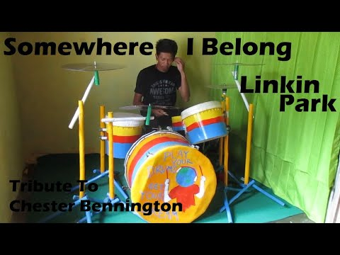Linkin Park Somewhere I Belong Drum Cover by: Janu Fitriadi