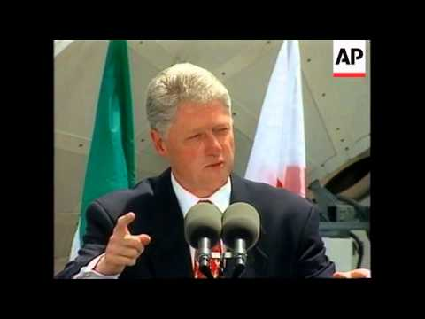 USA: DENVER: PRESIDENT CLINTON SPEAKS ON EVE OF SUMMIT OF THE 8