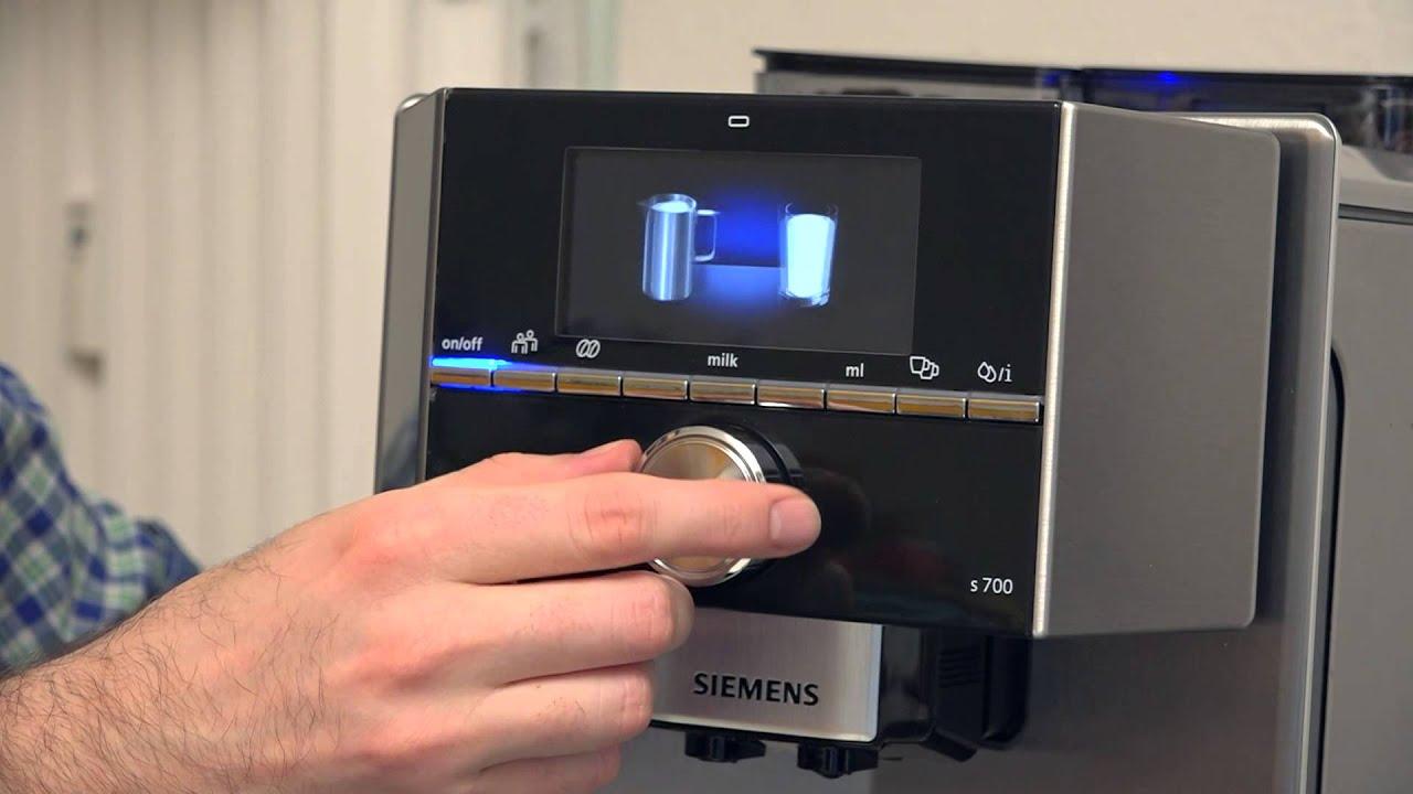 getestet von euronics der kaffeevollautomat eq 9 von siemens im produkttest youtube. Black Bedroom Furniture Sets. Home Design Ideas