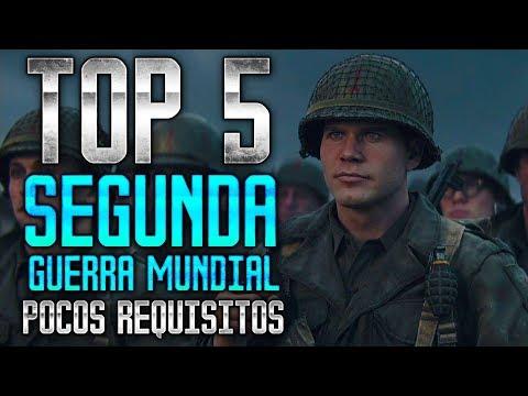 🔫 TOP 5 JUEGOS DE LA 2ª GUERRA MUNDIAL GRATIS 🎮 POCOS REQUISITOS