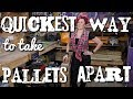 How to take pallets apart the quick & easy way without splitting the wood!