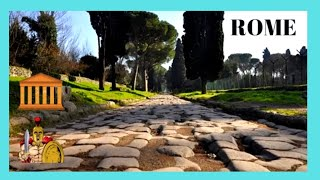 ROME, EXPLORING historic road VIA APPIA ANTICA (APPIAN WAY), highway of the ROMAN LEGIONS